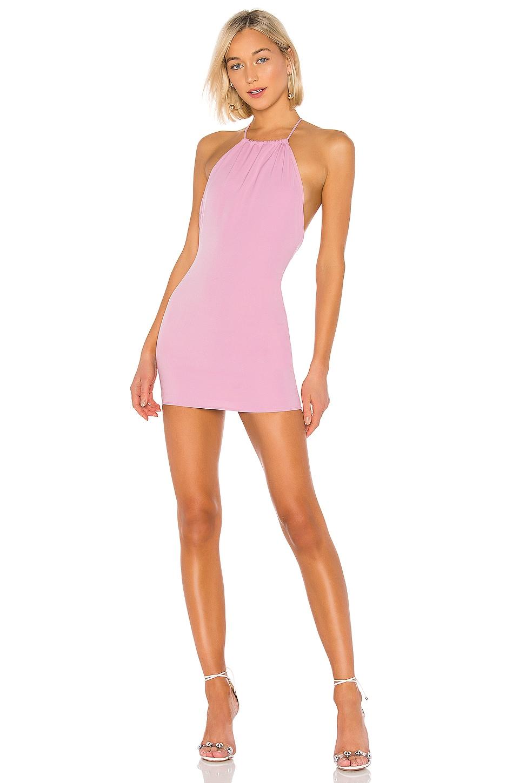 superdown Saige High Neck Dress in Pink