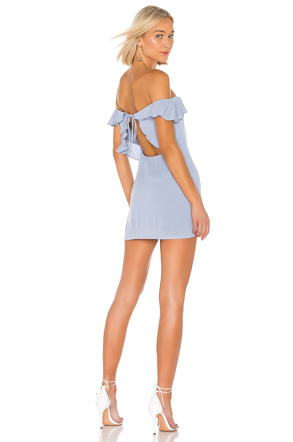 superdown Lindsey Mini Dress in Dusty Blue