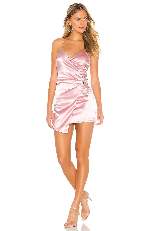 superdown x Chantel Jeffries Alissa Wrap Dress in Pink