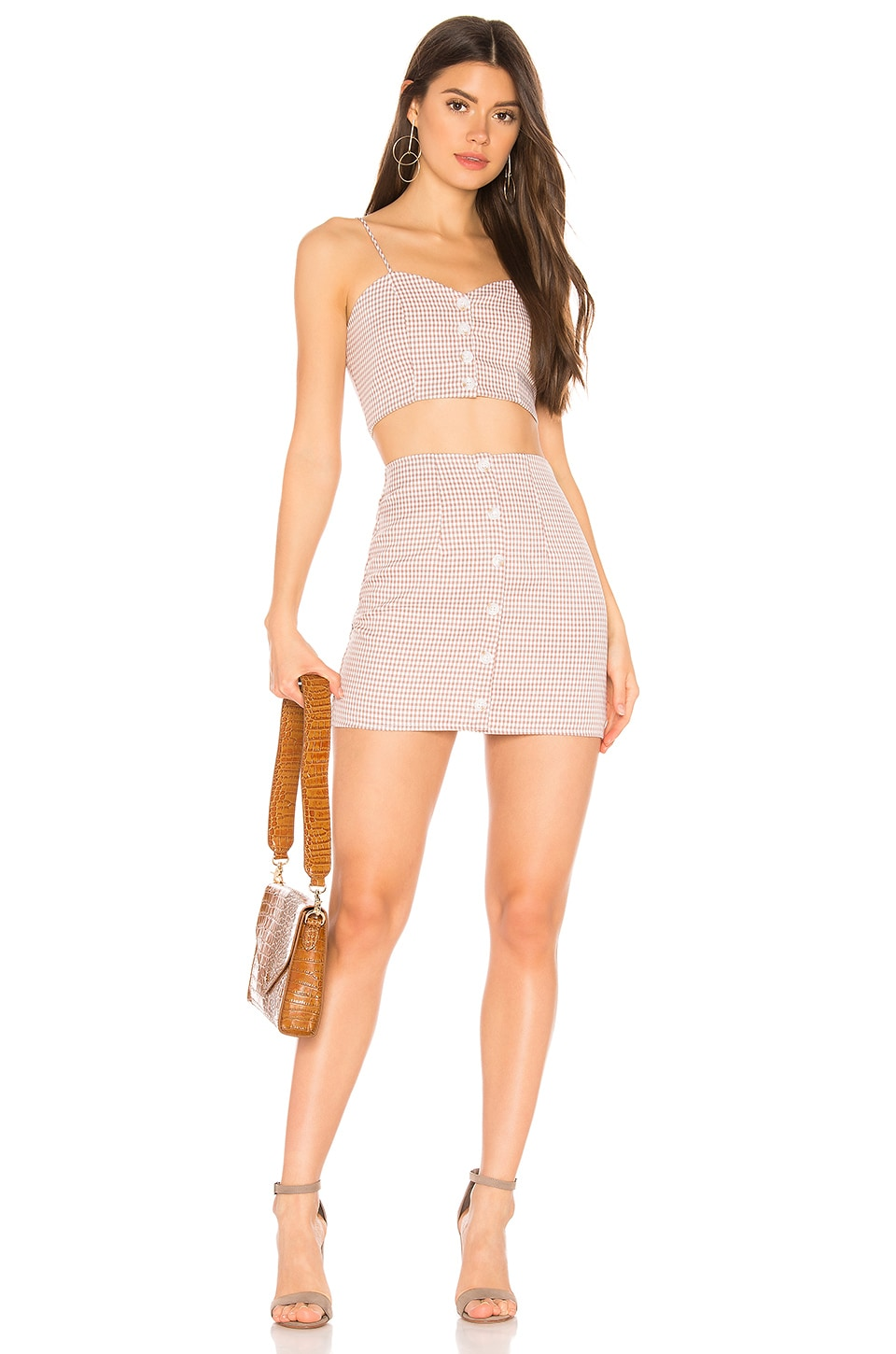 superdown x REVOLVE Page Cami Skirt Set in Blush & White