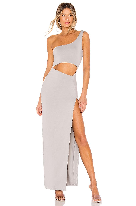 superdown Erla Cutout Maxi Dress in Light Grey
