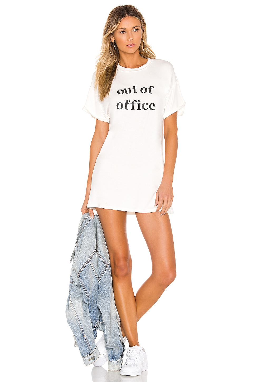 superdown Audrey Vacay Tee Dress in White