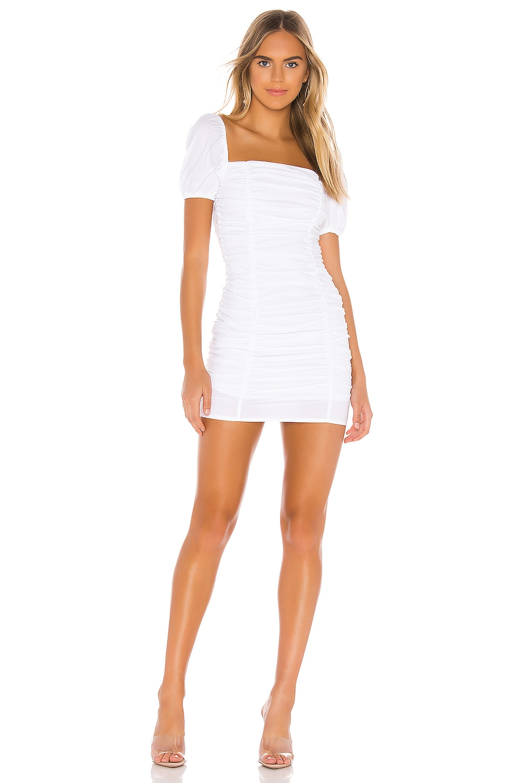 superdown Rumor Ruched Dress in White
