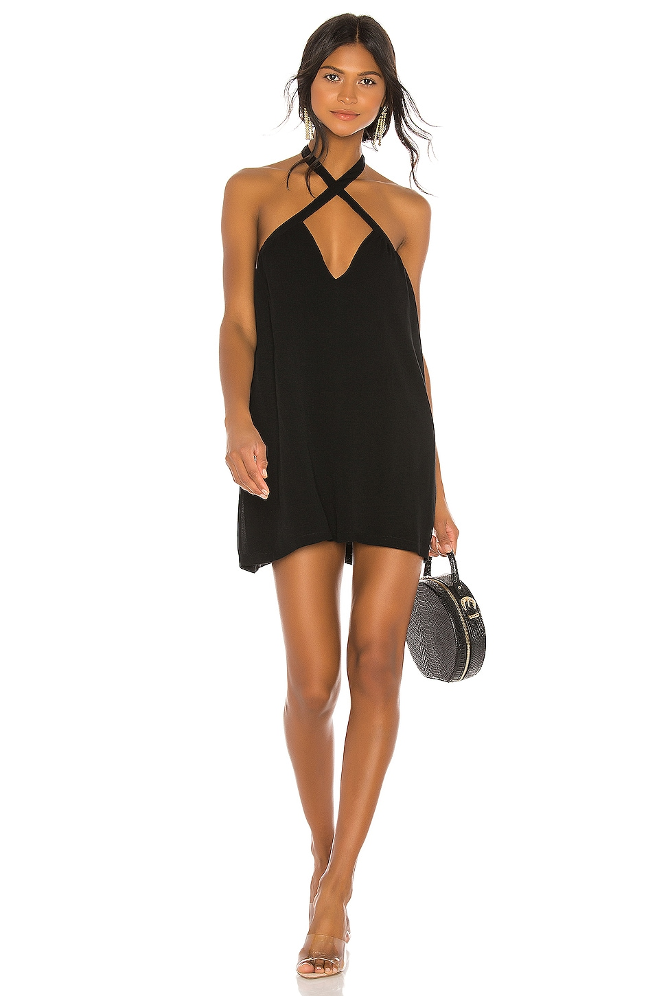 superdown Trina Shift Dress in Black
