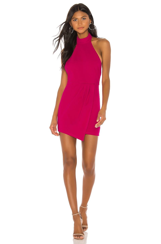 superdown Tamara Halter Mini Dress in Hot Pink
