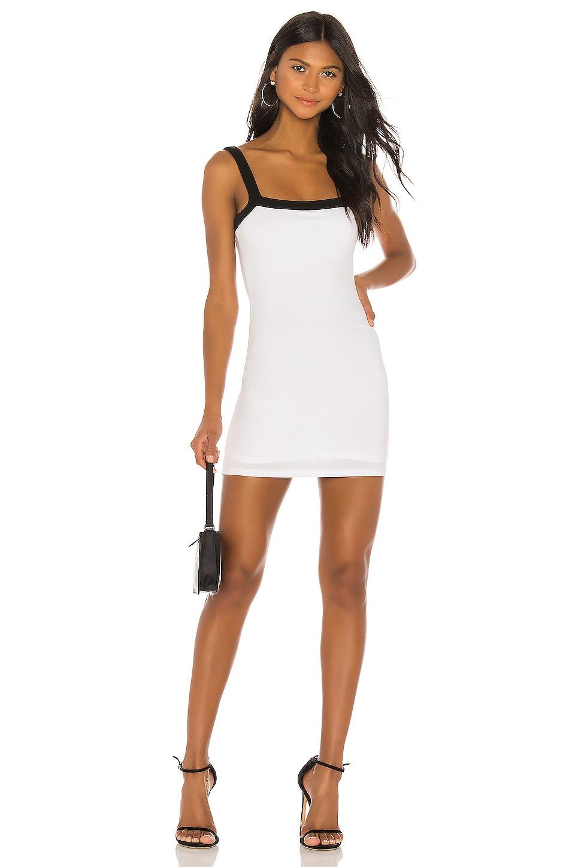 superdown Arri Contrast Trim Dress in White & Black