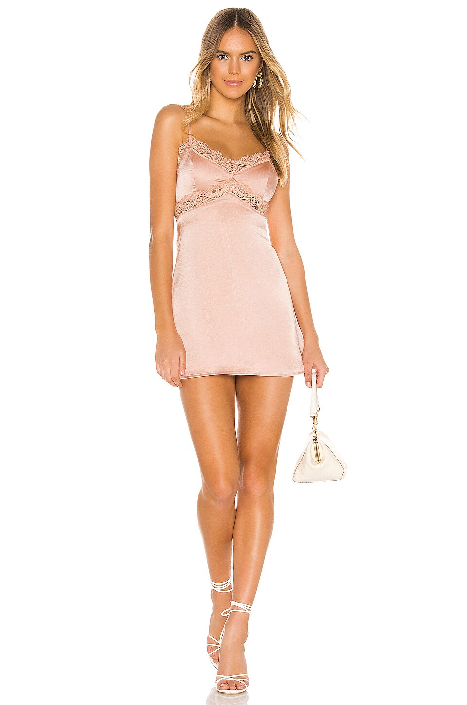 superdown Helena Lace Slip in Nude