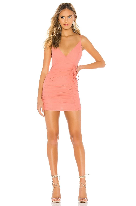 superdown Karly Drawstring Dress in Pink