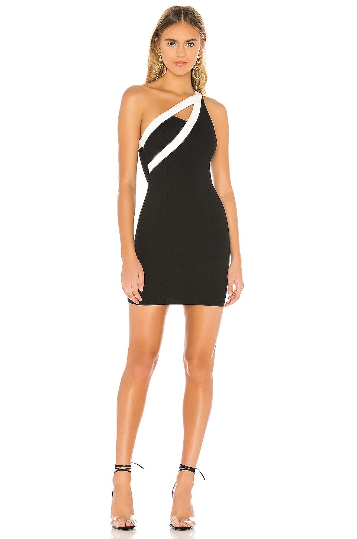 superdown Avery Mini Dress in Black & White