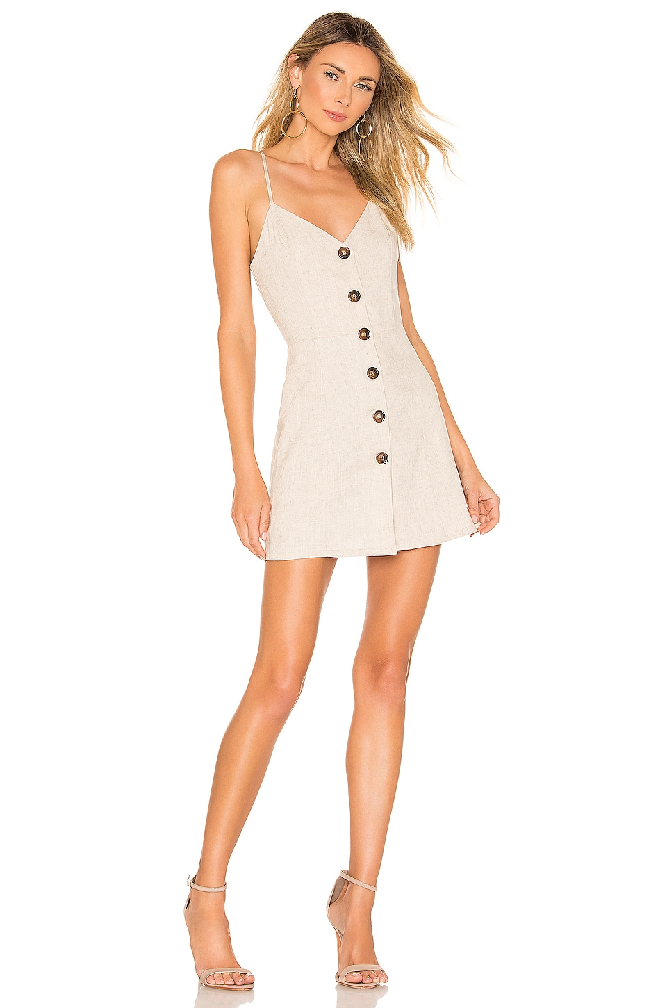 superdown Mallory Button Up Dress in Natural