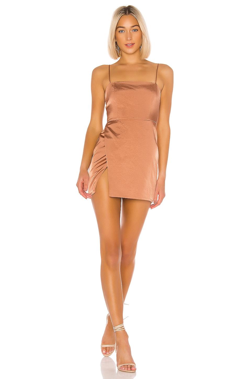 superdown Gianna Slit Mini Dress in Nude