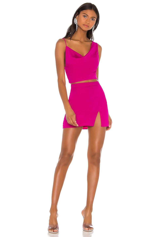 superdown Kylie Mini Skirt Set in Magenta