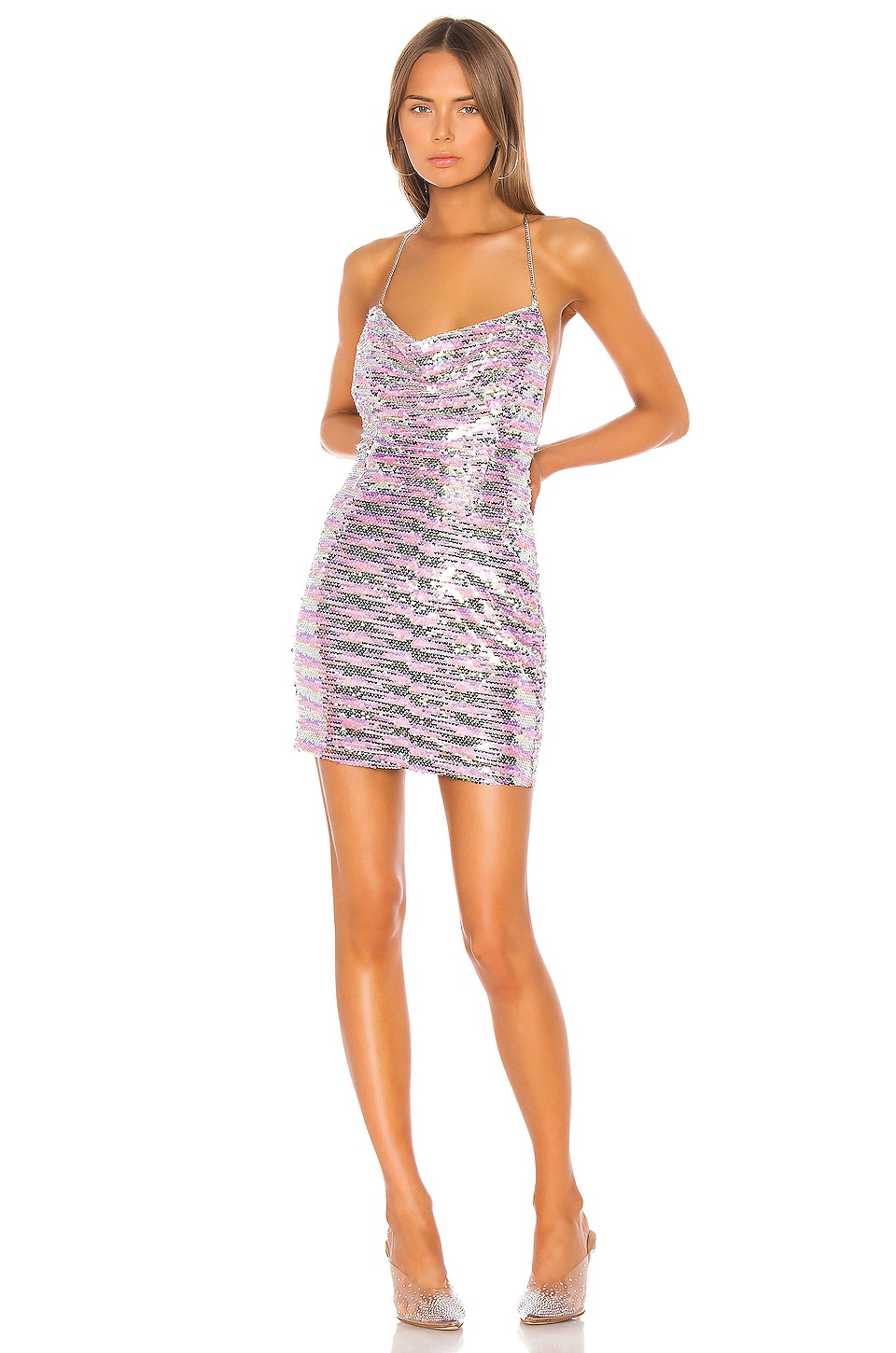 superdown Lisbeth Cowl Mini Dress in Multi