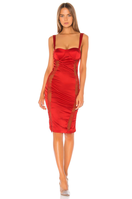 superdown Nada Bustier Dress in Red