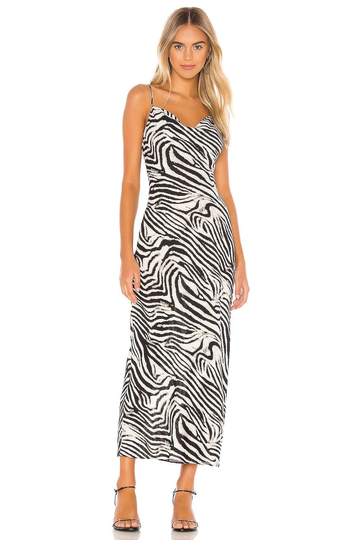 superdown Dina Draped Maxi Dress in Zebra