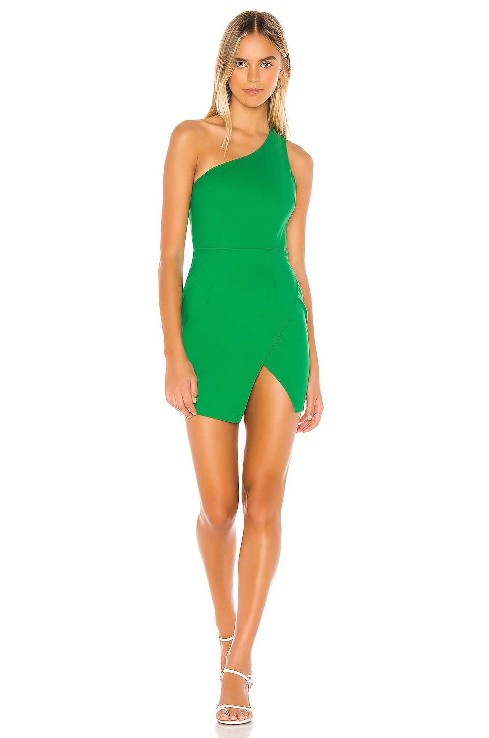 superdown Molly One Shoulder Dress in Green