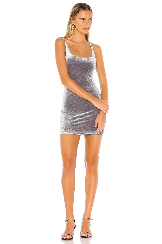 superdown Jenny Square Neck Dress in Slate Blue
