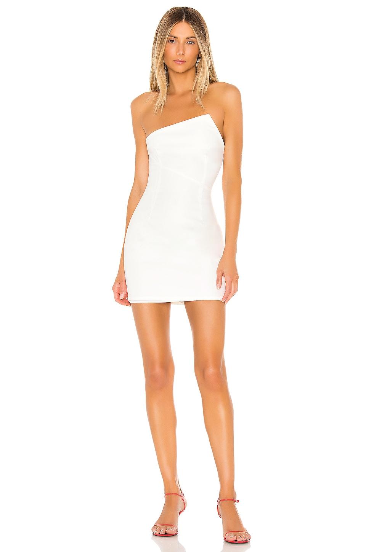 superdown Quincy Strapless Mini Dress in White