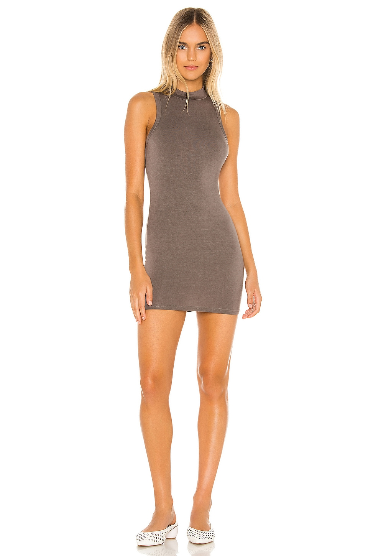 superdown Hilarie Mini Dress in Charcoal