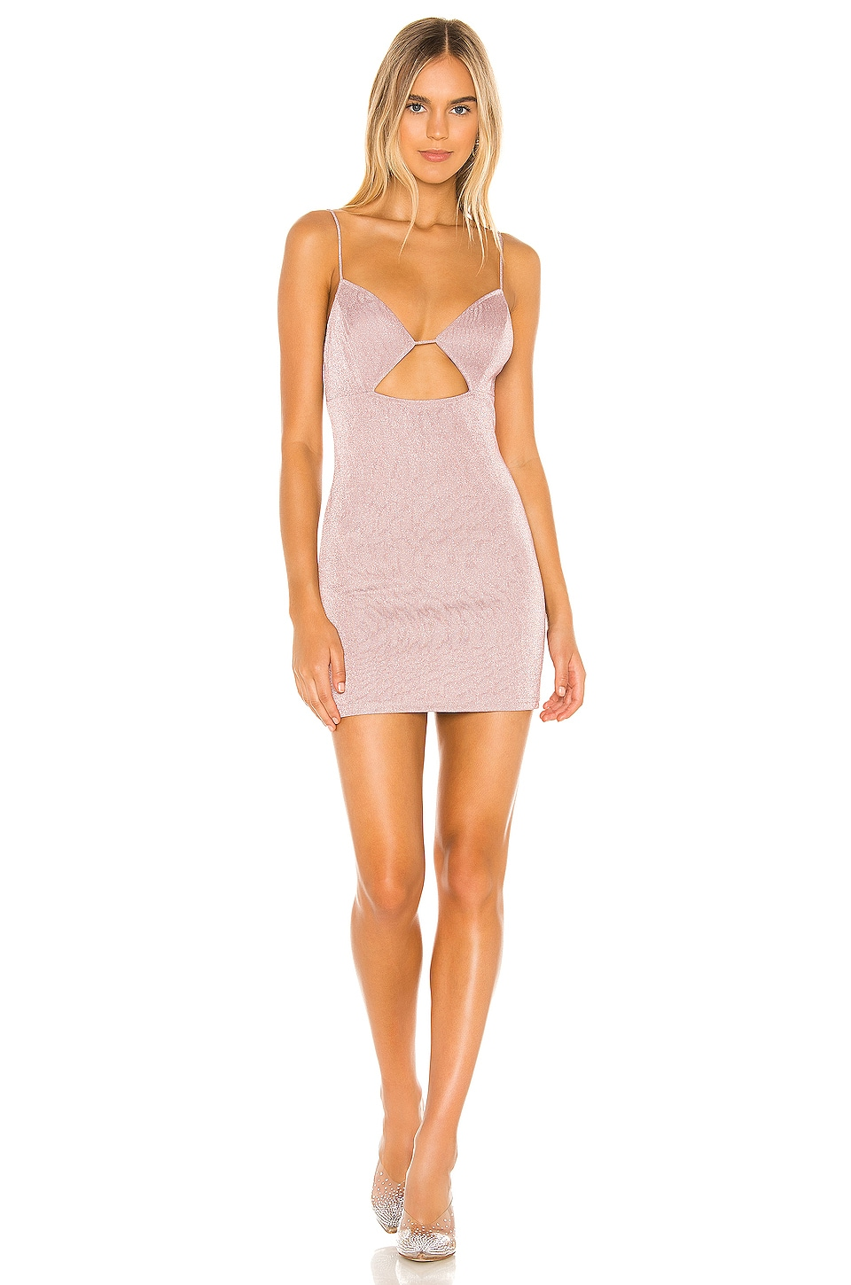 superdown Gabriella Cut Out Dress in Pink