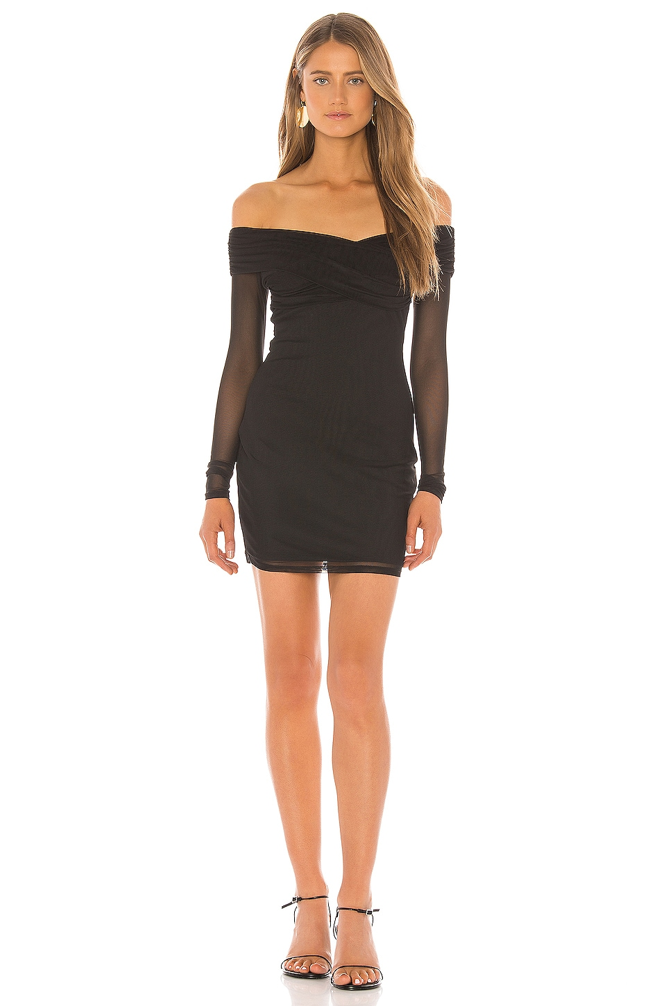superdown Ramona Mesh Dress in Black