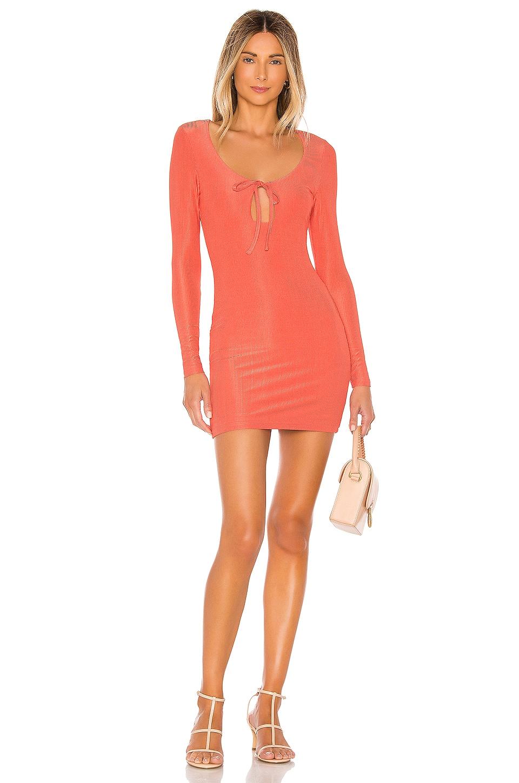 superdown Rubie Keyhole Mini Dress in Coral