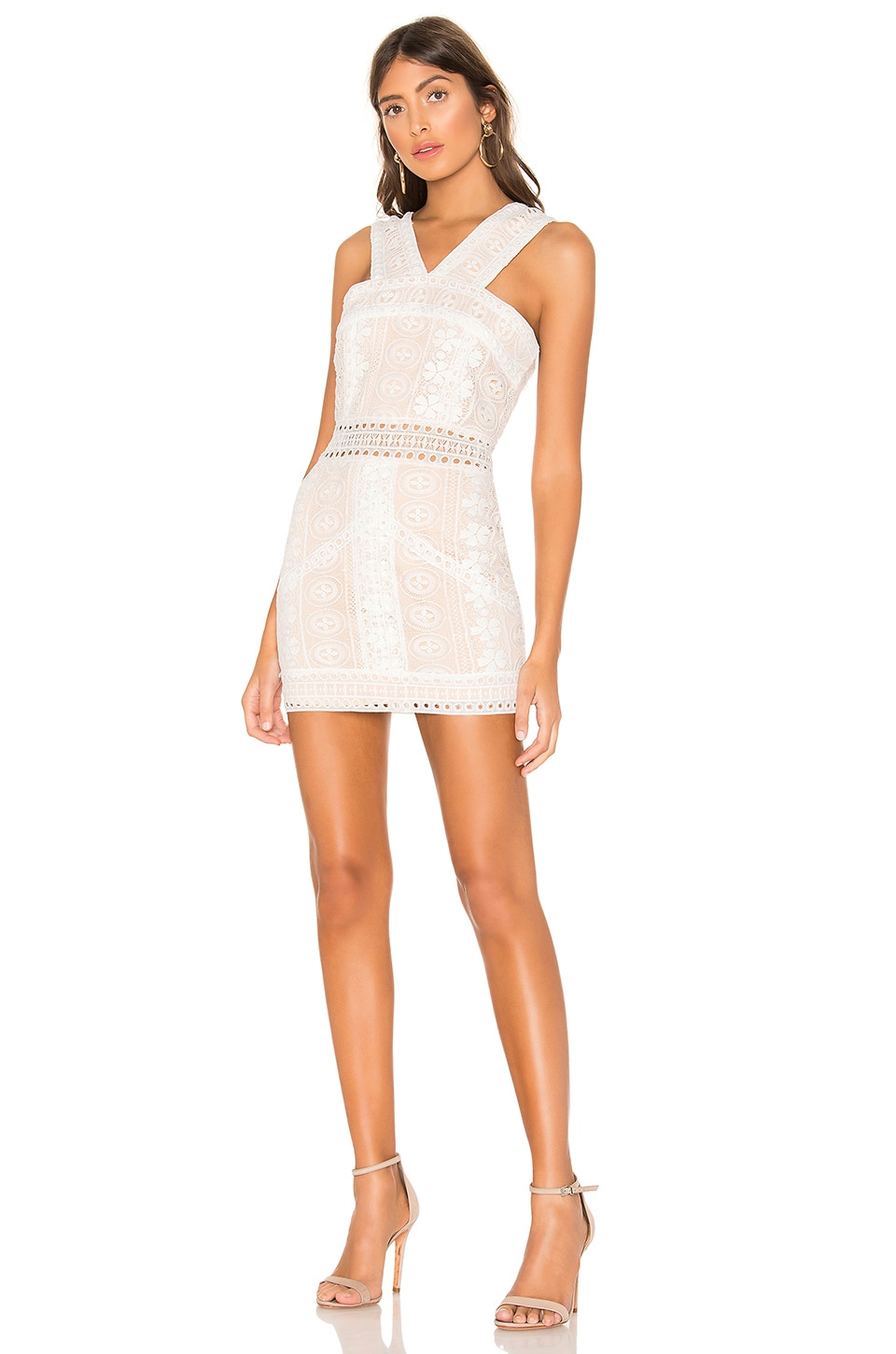 superdown Pauline High Neck Dress in White