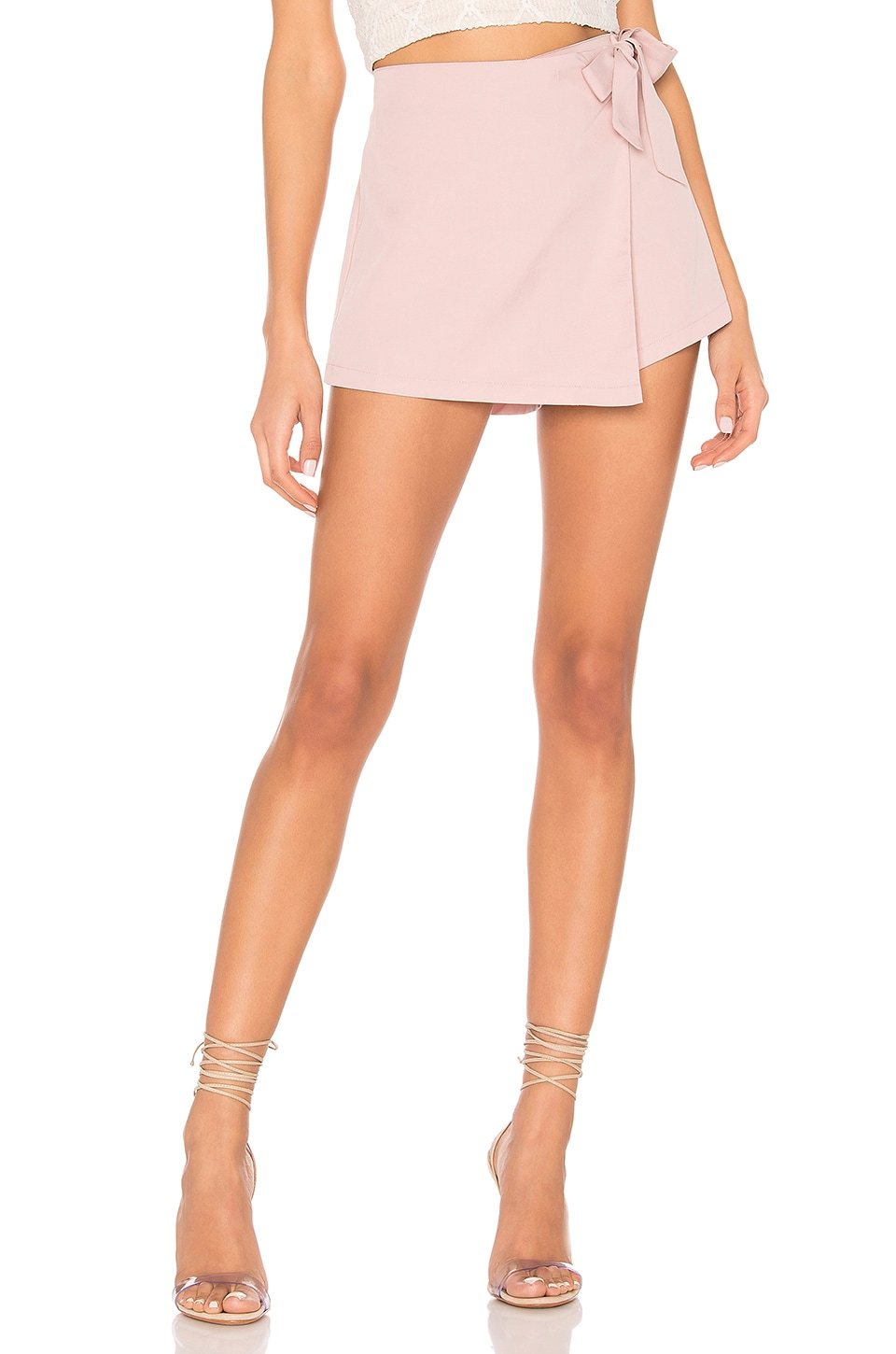 superdown Trina Wrap Skort in Mauve
