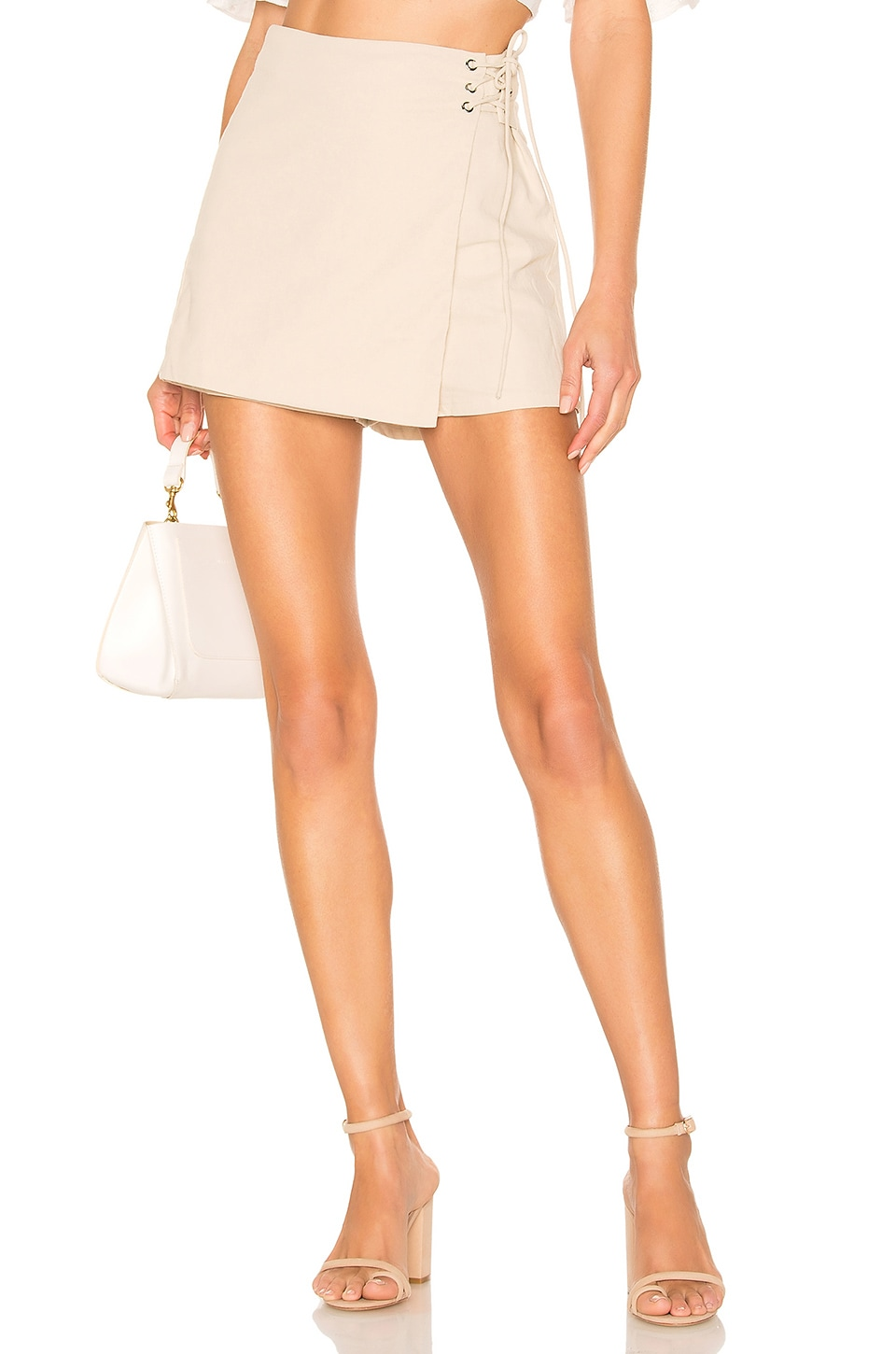 superdown Minka Mini Skort in Toast