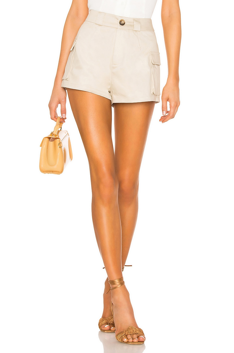 superdown Livie Cargo Shorts in Khaki