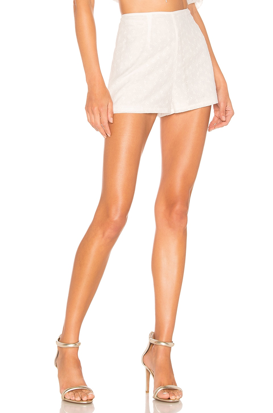 superdown Tiff High Waisted Short in White