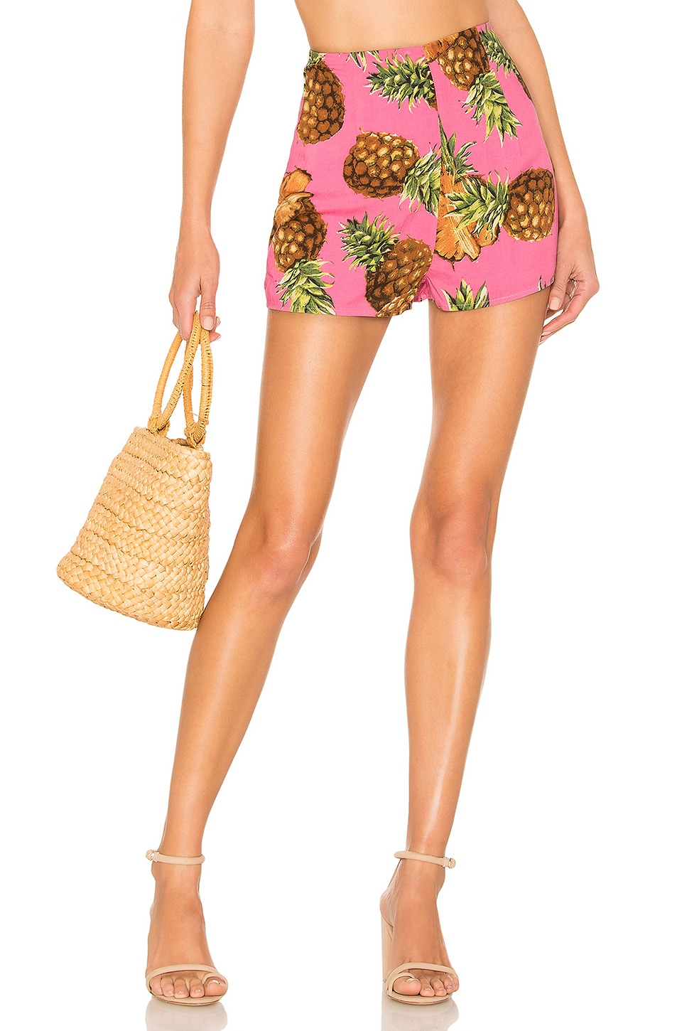 superdown Lucia Hot Shorts in Pink Pineapple