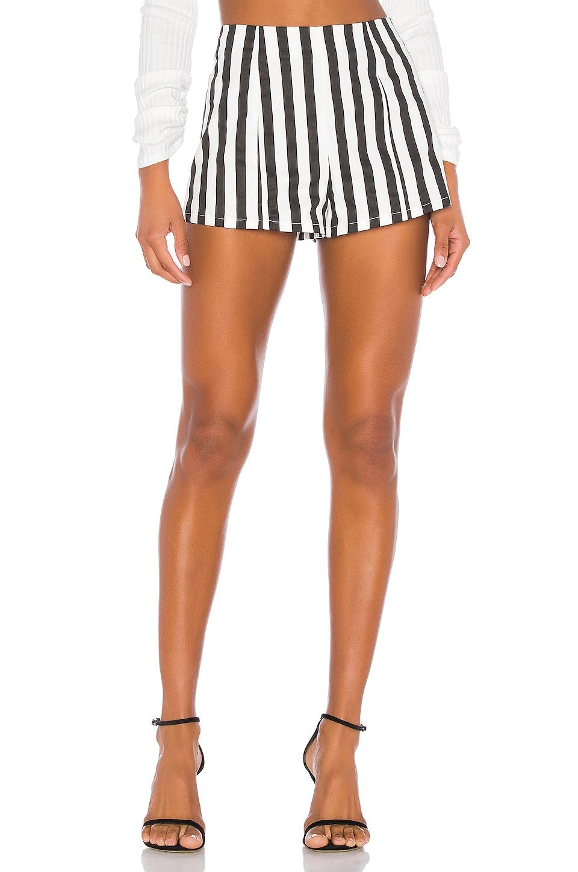 superdown x Chantel Jeffries Amber Hot Short in Black & White