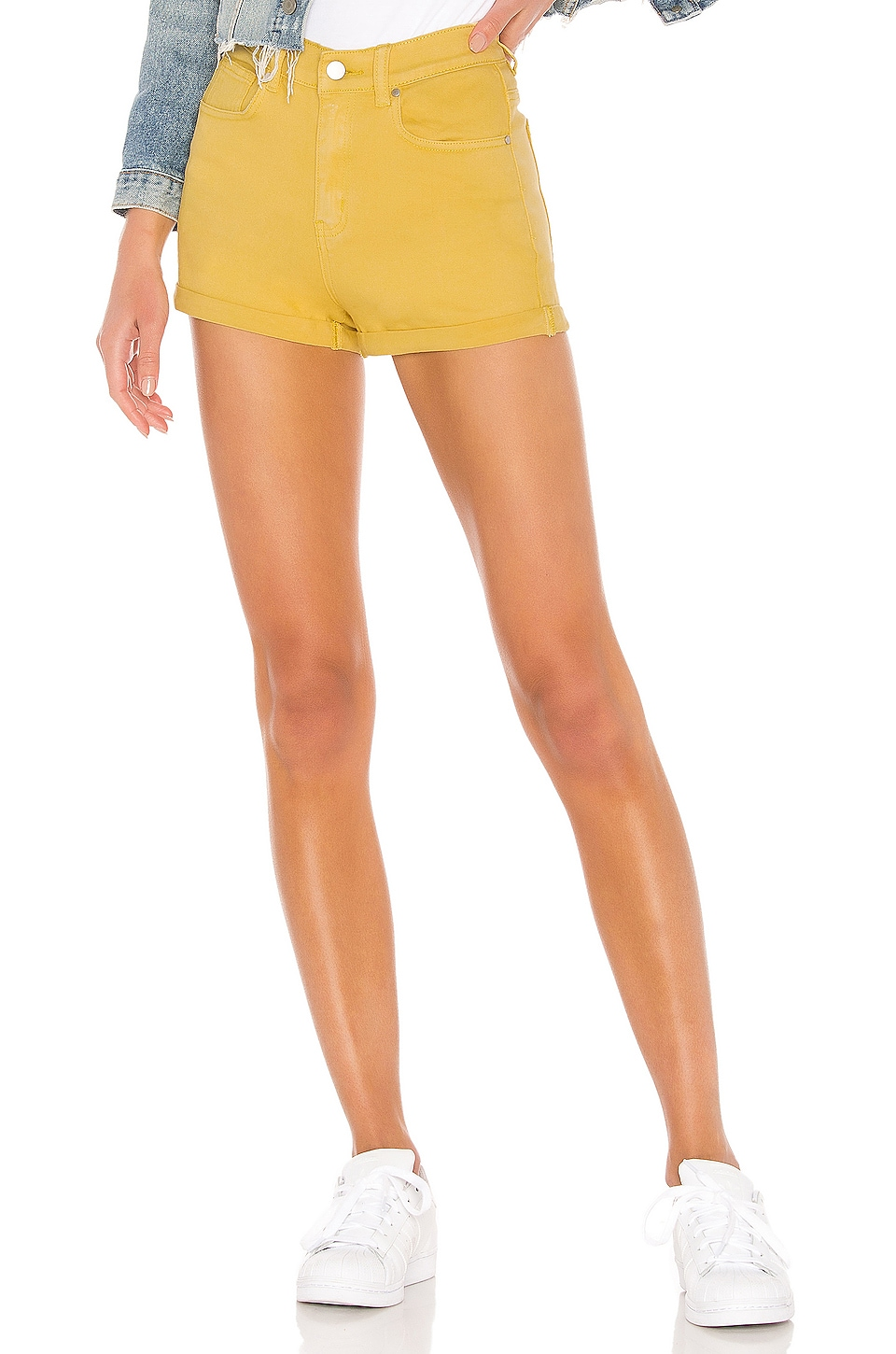 superdown Mikah Rolled Hem Short in Yellow