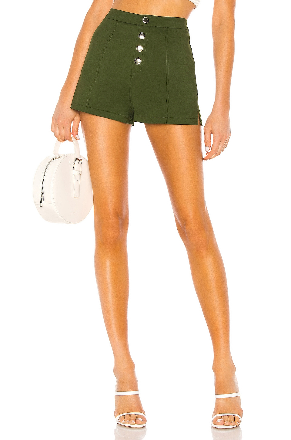 superdown Kyla Hot Short in Olive