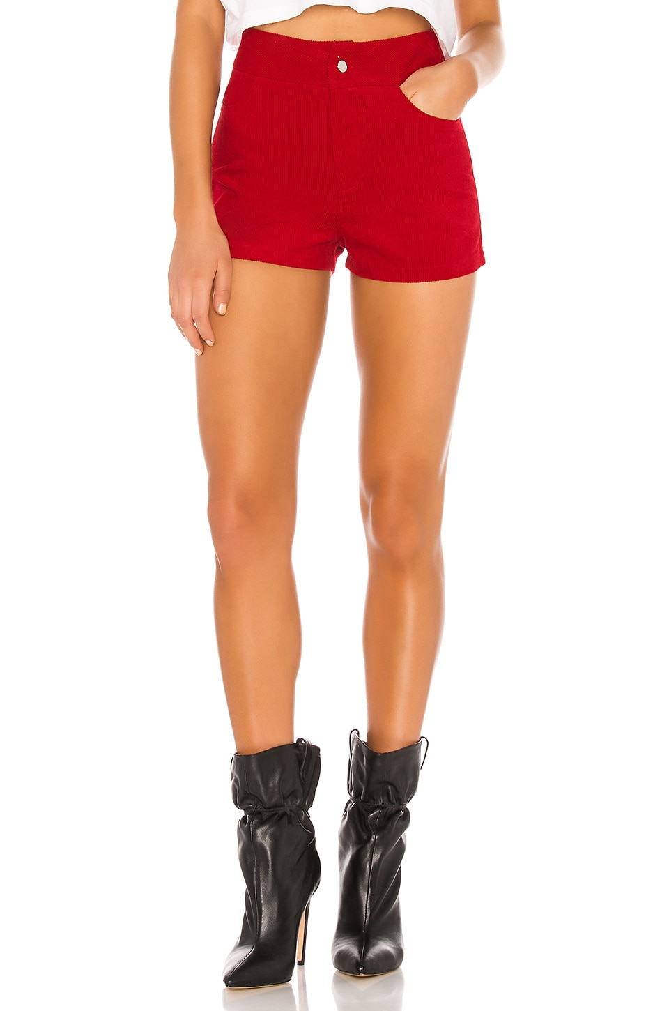 superdown Carlee High Waisted Short in Red