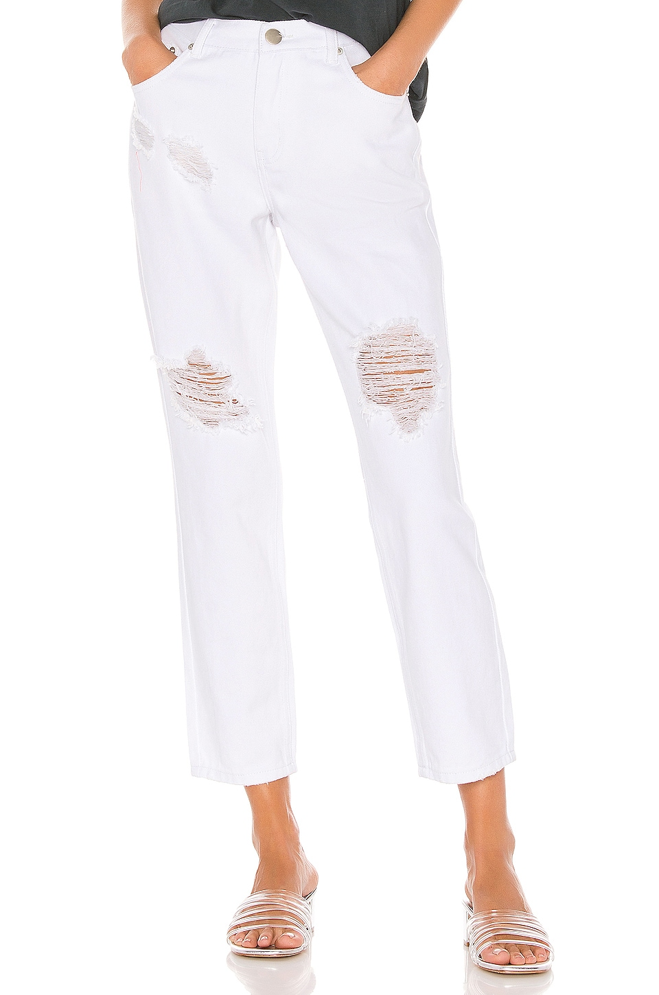 superdown Angie Distressed Jean in White