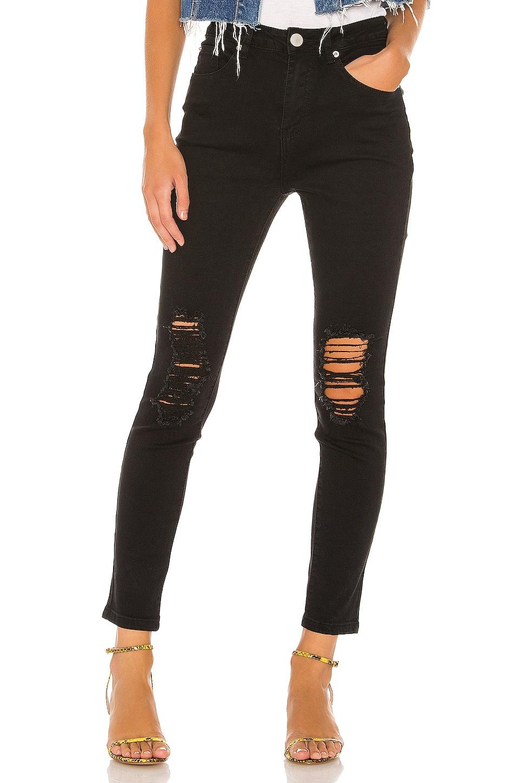 superdown Suza Distressed Jeans in Black