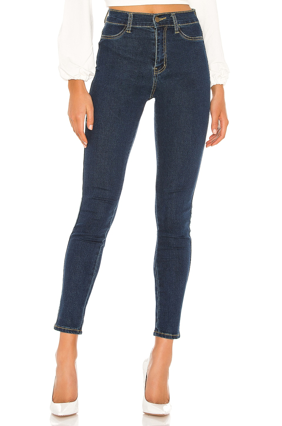 superdown Giselle Skinny Jeans en Dark Blue Wash