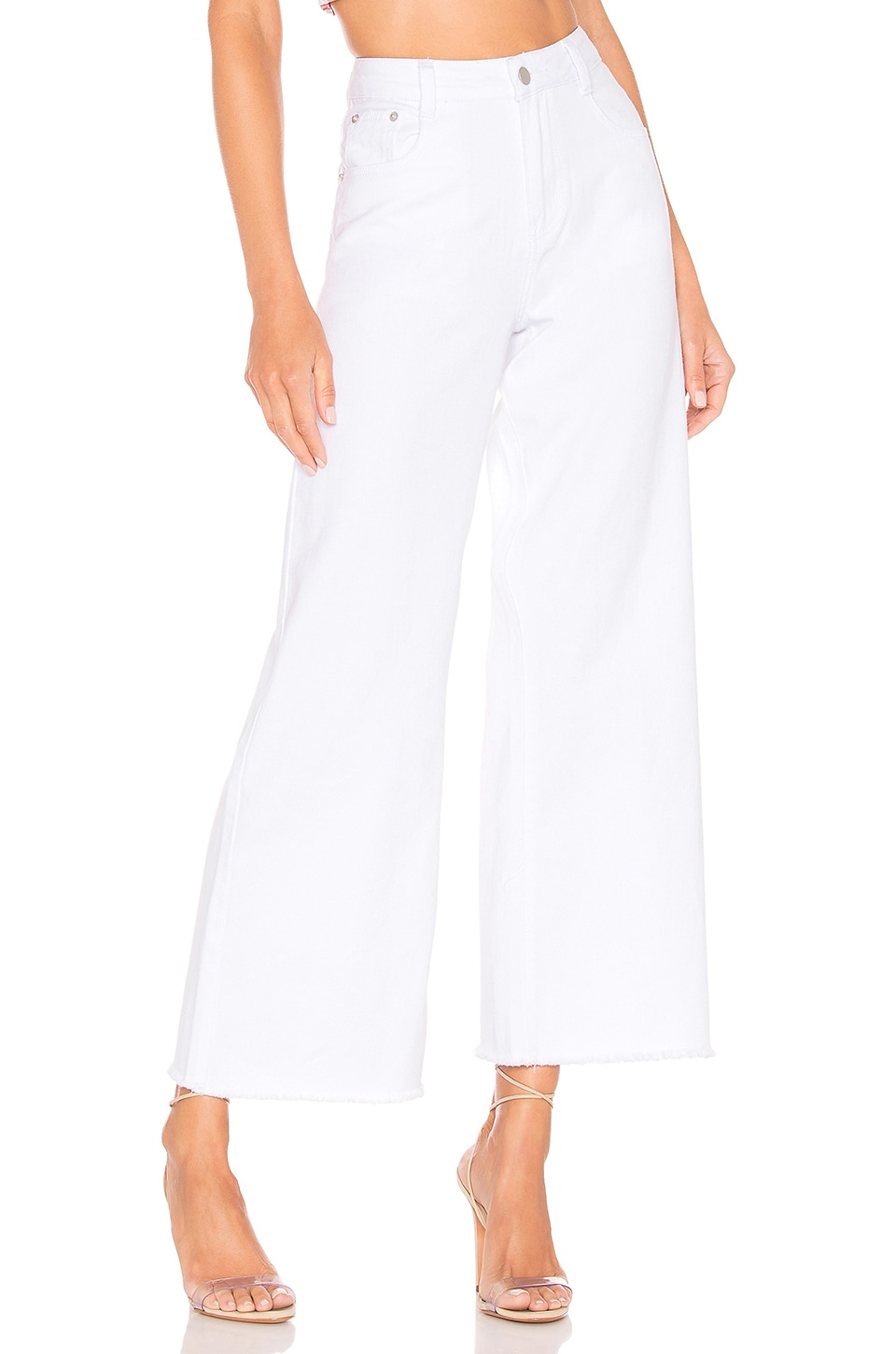 superdown Lucy Crop Flare Jeans in White