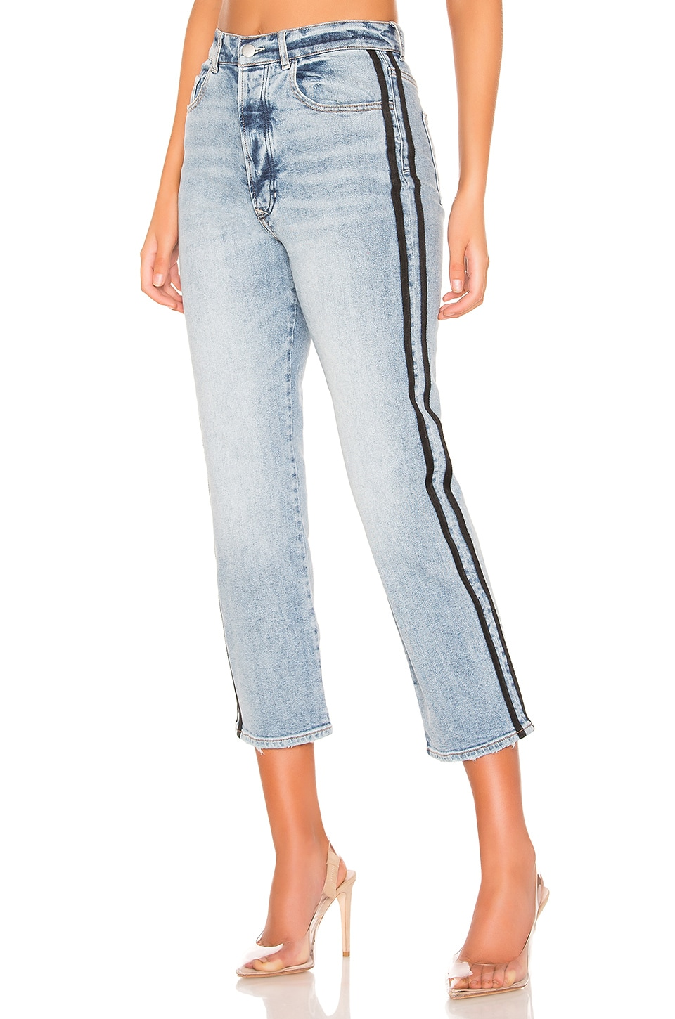 superdown Jamie Side Stripe Jeans in Light Wash