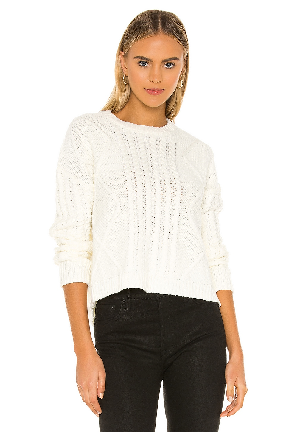 superdown Reese Crew Neck Sweater in White