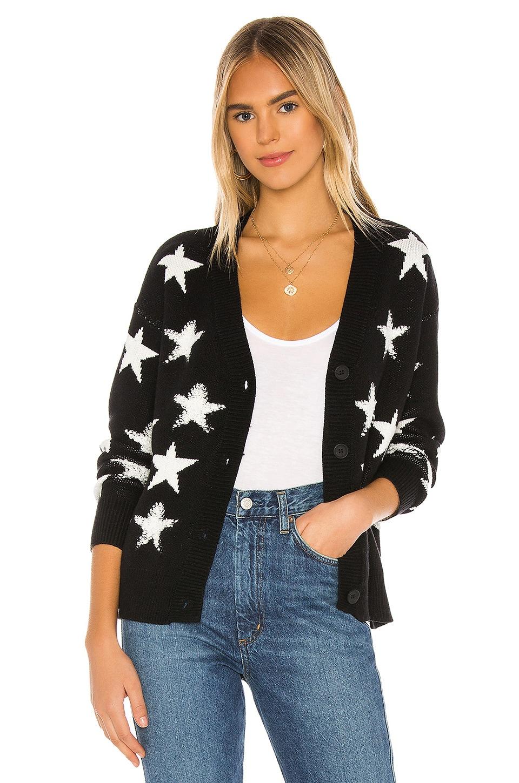 superdown Karol Star Sweater in Black & White