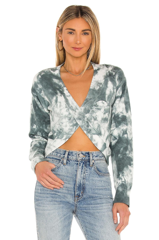 superdown Sasha Deep V Sweater in Grey Multi