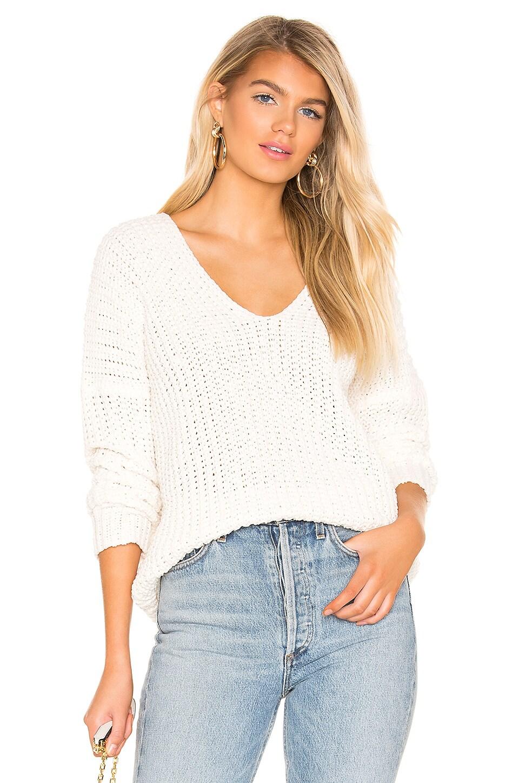 superdown Christie Pullover Sweater in White