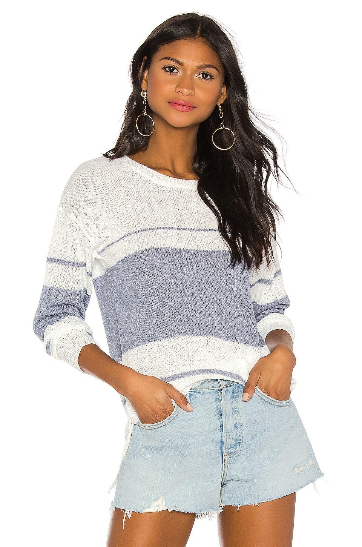 superdown Tiffany Stripe Sweater in White & Blue