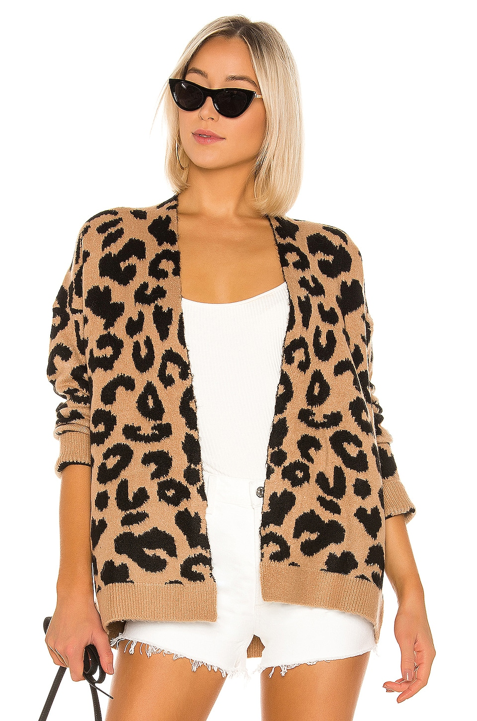 superdown Draya Leopard Cardigan in Mocha