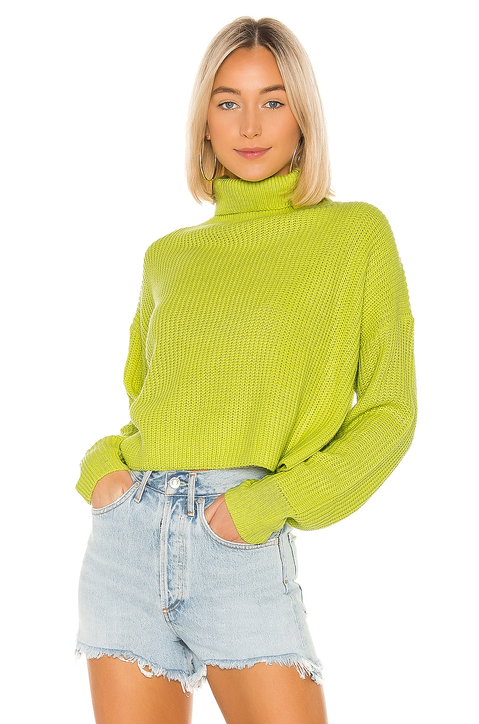 superdown Lacy Turtleneck Sweater in Green | REVOLVE