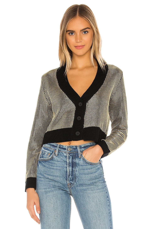 superdown Loraine Metallic Sweater in Gold