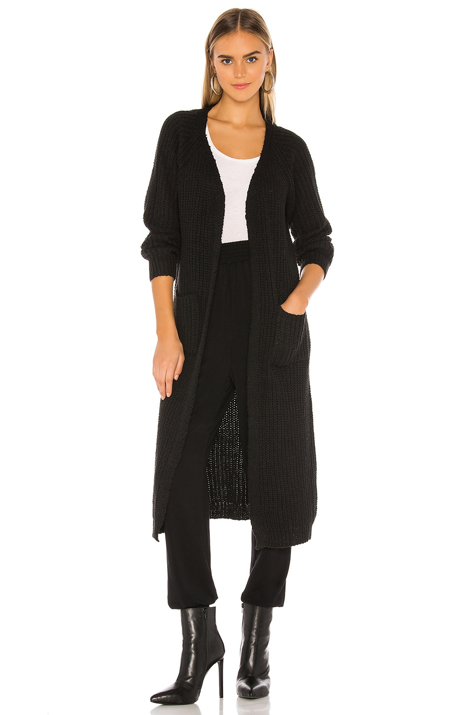 superdown Miliana Long Cardigan in Black